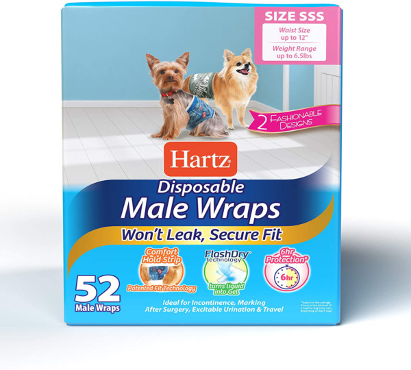 52 Pack Waist Disposable Dog Diapers Male Wraps Belly Bands Pet Soft SSSmall Siz $26.93
