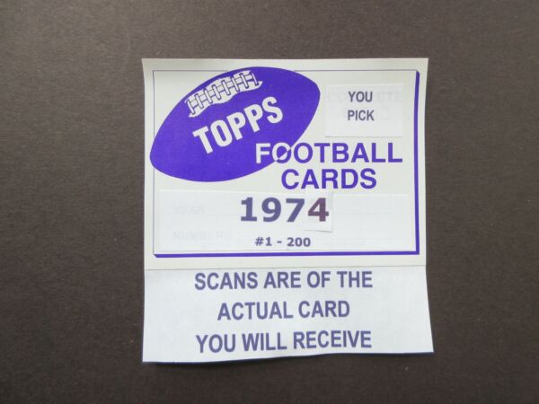 1974 TOPPS FOOTBALL U Pick Players from Scans Free Shipping