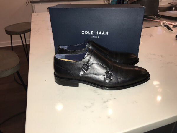 Cole Haan Dawes Grand Double Monk Oxford Blk Sz 10 $60.00