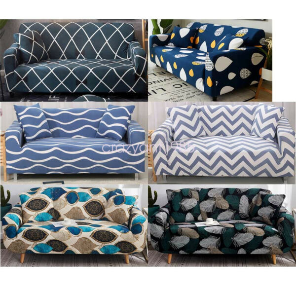 Soft 1 2 3 4 Seaters Sofa Covers Protector Slipcover Living Room Decoration $27.99
