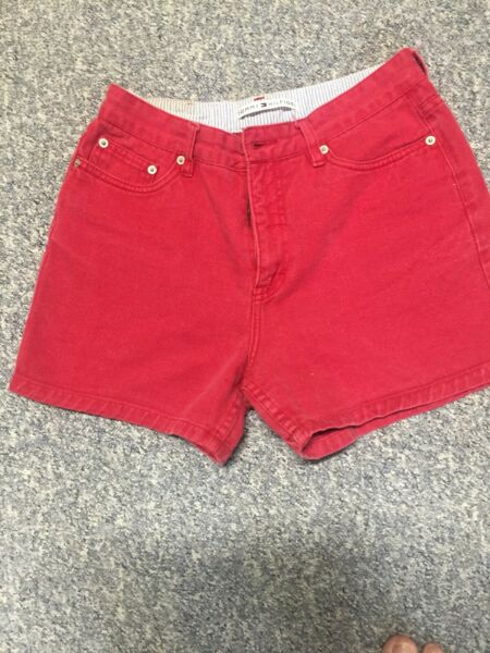 Vintage Tommy Women#x27;s Shorts RED USED Good Condition $8.00