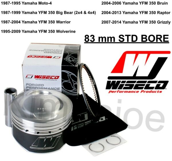 Yamaha 350 Raptor Warrior amp; Listed 83 mm STD BORE Wiseco Forged Moly Piston Kit $127.61