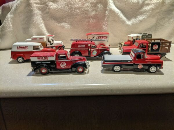 Lot of 8 1:25 Scale Die Cast Replica Lennox Bank Vehicles Used No Boxes $99.95