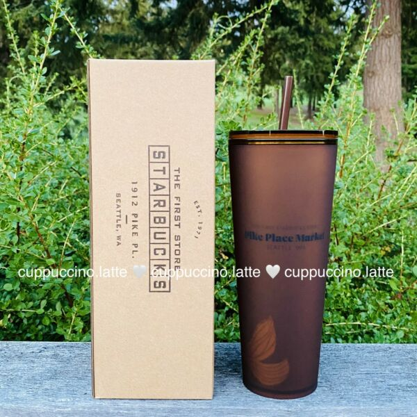 Starbucks Pike Place Amber Matte Soft Touch Tumbler