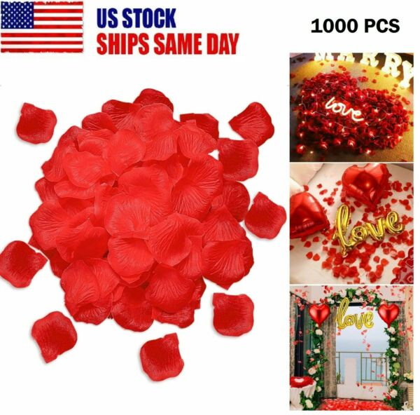 1000x Red Silk Artificial Rose Petals Leave Wedding Party Home Romantic Decor US