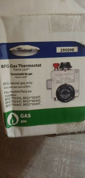 Whirlpool 295098 BFG Gas Thermostat Flame Lock Model 6910798 New Sealed $48.00