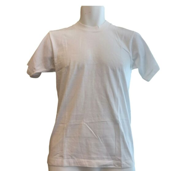Vintage Screen Stars Best 50 50 T Shirt Solid White USA Men#x27;s Adult Small