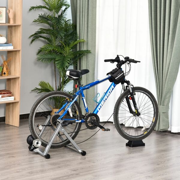 Indoor Bicycle Exercise Trainer w Bar Remote Control amp; Near Universal Fit $669.99