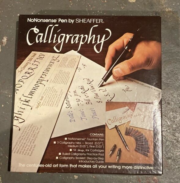 Sheaffer CALLIGRAPHY SET Fountain Pen 3 Nibs Instructions Grids Paper