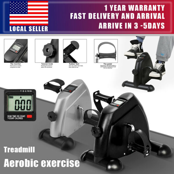 Indoor Exercise Cycle Fitness Mini Pedal Stepper Bike 4 Leg LCD Display Home US $24.99