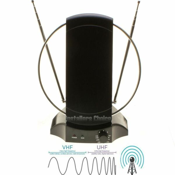 Digital HDTV Antenna Indoor Stand Amplified TV Booster With Extender 50 Mile lot $28.95