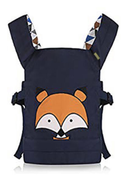 CUBY Doll Carrier Soft Cotton Toy Carrier For Girls Over 18 Months Blue Fox $12.00