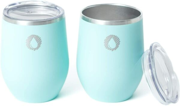 Stainless Steel Insulated Wine Tumblers Set of 2