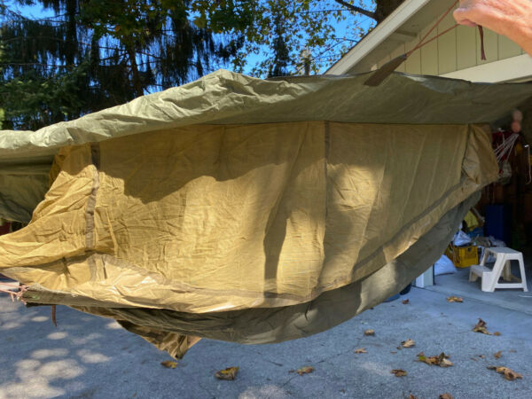 WWII US ARMY 1944 Jungle Hammock VG Condition Mosquito Net Canopy $110.00