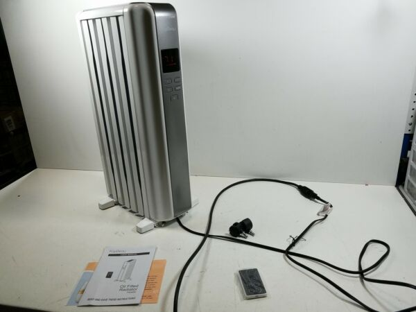 Space Heater 1500W Oil Filled Radiator Heaters Indoor Portable Electric