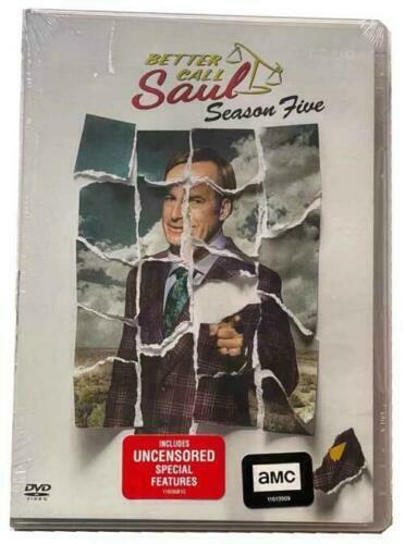Better Call Saul Complete Season 5 3 DISC DVD NEW FREE FIRST CLASS SHIPPING $11.99