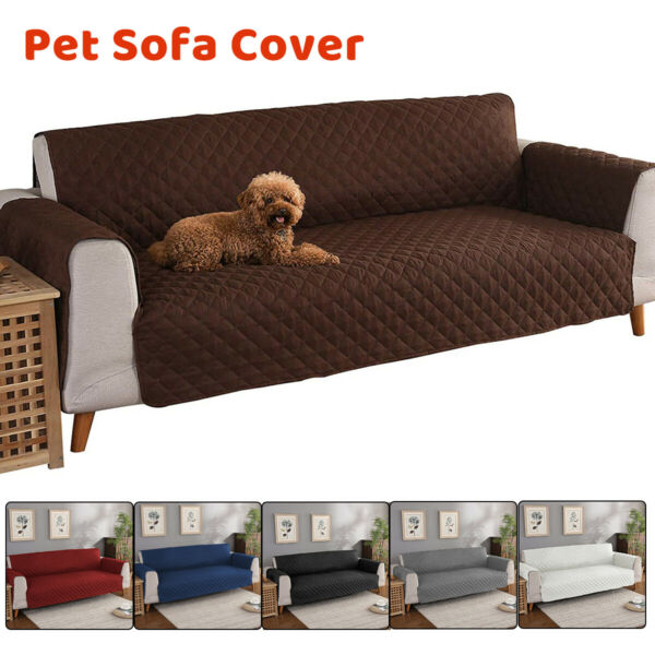 Waterproof 3 Seater Sofa Cover Couch Slipcover Pet Dog Furniture Protector Mat $52.73