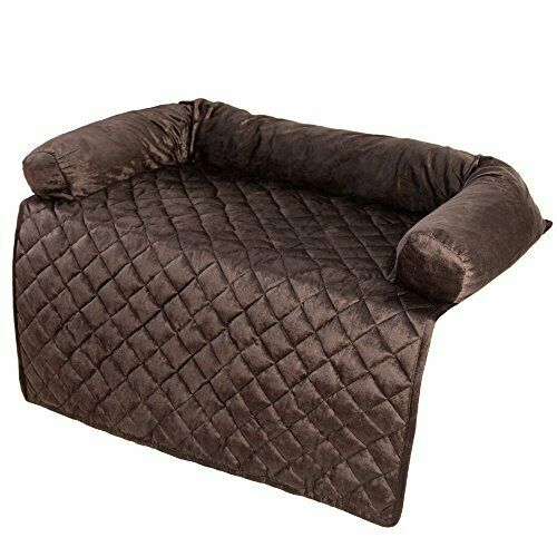 PETMAKER Furniture Protector Pet Cover with Bolster Brown 35x35 $45.02