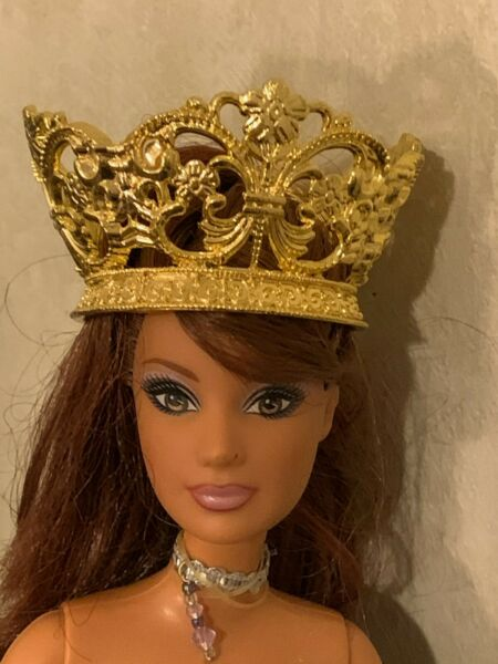 Ornate Gold Crown for Older Integrity amp; 11.5 12 inch Dolls with Larger Heads $5.25