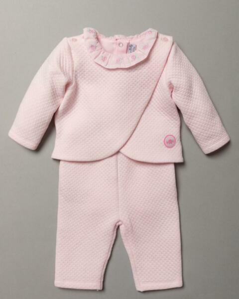 Baby Girls Spanish Style Romany Pink Soft Jacket Trousers amp; Bodysuit Top Outfit