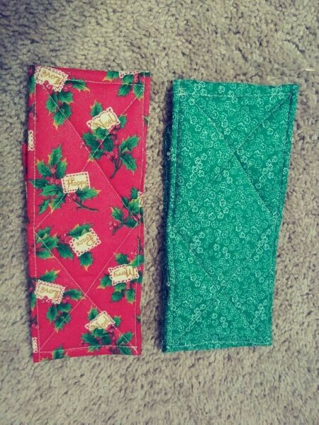 Male Dog Washable Belly Bands Set of 2 Handmade Christmas Pattern $14.99