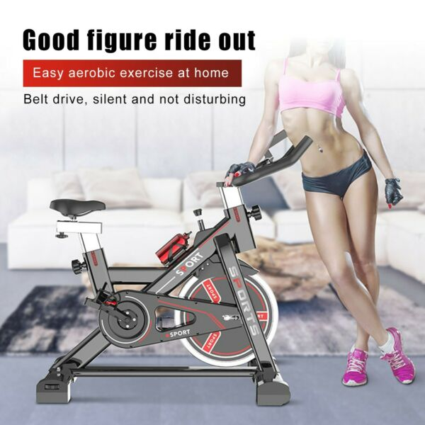 Stationary Indoor Bicycle Bicycle With Tablet Stand amp; Comfortable Cushion Black $211.99