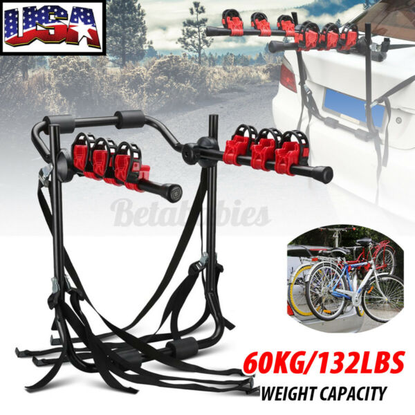 Trunk Mount 3 Bike Carrier Hatchback SUV Car Cycling Sport Bicycle Hitch $69.94