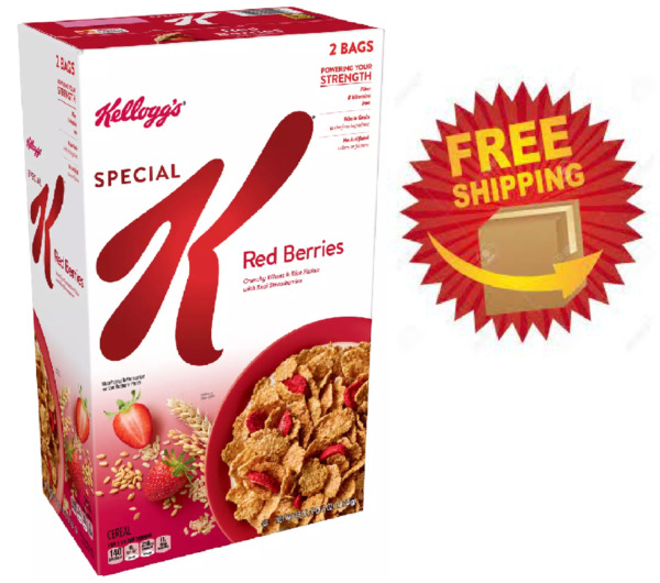 Kellogg#x27;s Special K Breakfast Cereal Red Berries 38 oz FREE SHIPPING