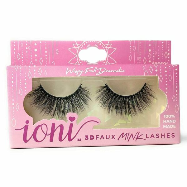 ioni 3D faux mink lashes Wispy Full Dramatic 100% Hand Made 686604 $4.00