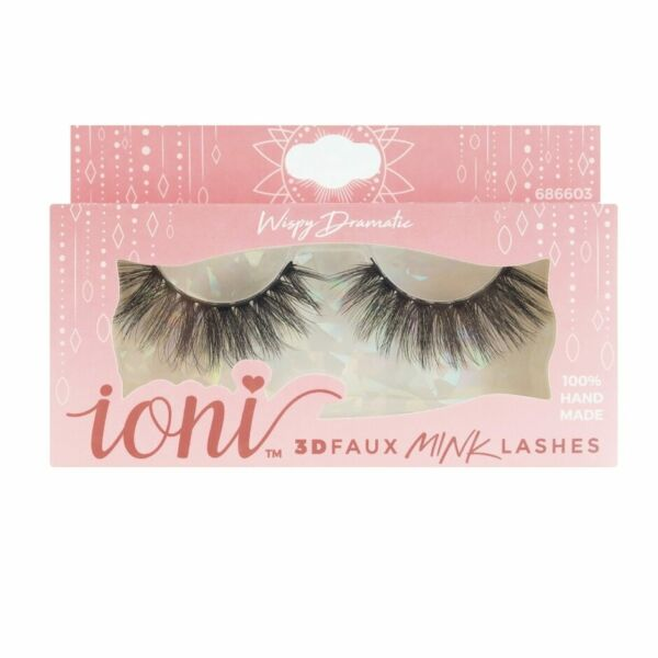 ioni 3D faux mink lashes Wispy Dramatic 100% Hand Made 686603 $4.00