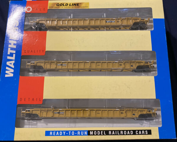 Walthers HO Scale TTX 620643. 3PC Set. NSC 3 Unit 53' Well Car 932 3943 $99.99