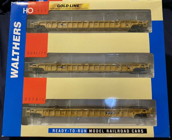 Walthers HO Scale TTX 620549. 3PC Set. NSC 3 Unit 53' Well Car 932 3941 $99.99