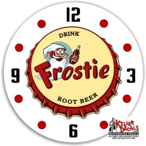 DECAL 18quot; ROUND FROSTIE ROOT BEER SODA POP DECAL TO MAKE A CLOCK