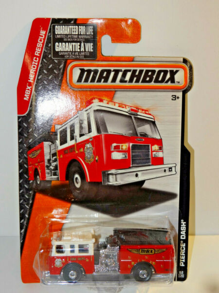 MATCHBOX HEROIC RESCUE RED PIERCE DASH FIRE ENGINE
