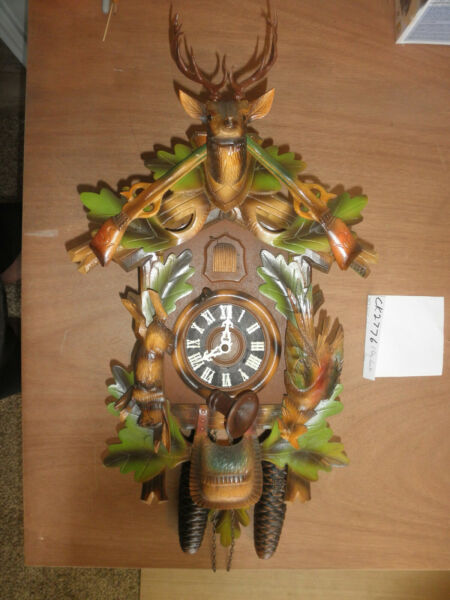 German Black Forest made working Herr Hunter 8 Day Cuckoo Clock CK2776