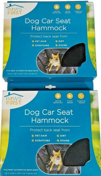"""New Paws First Evriholder Dog Hammock Car Seat Protector 55"""" x 49"""" Lot of 2 $35.99"""
