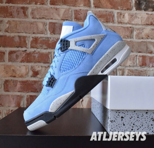 Nike Air Jordan 4 Retro University Blue White Cement Grey CT8527 400