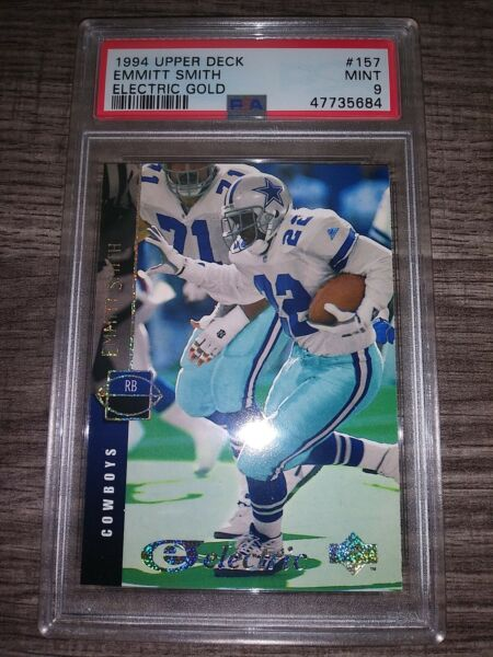 1994 Upperdeck Electric Gold Emmitt Smith PSA 9 Pop 3 Amazing Card $269.00
