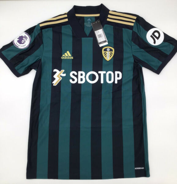 Leeds United Away Jersey 2020 2021 Adidas Green XS 2XL New with Tags