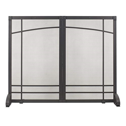 Pleasant Hearth Amherst Fireplace Screen Iron Black