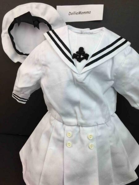 American Girl Samantha Middy Sailor Outfit Dress amp; Tam Hat Pleasant Company 1991