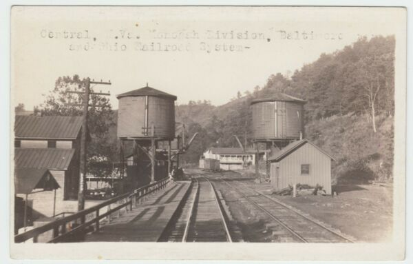 WEST VIRGINIA CENTRAL WOOD CO Bamp;O TANKS CHARLES LEMIC REAL PHOTO CIRCA 1915 $95.00
