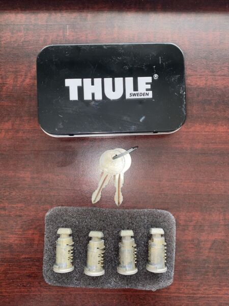 4 Thule Lock Cores Cylinders with 2 Keys N039 $32.99