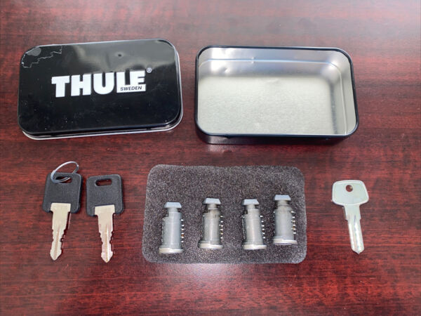 4 Thule Lock Cores Cylinders with 2 Keys N018 Lock Install Key $35.99