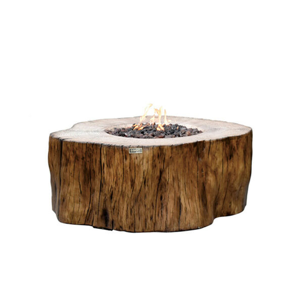Elementi Manchester Fire Table Red Wood Style Natural Gas