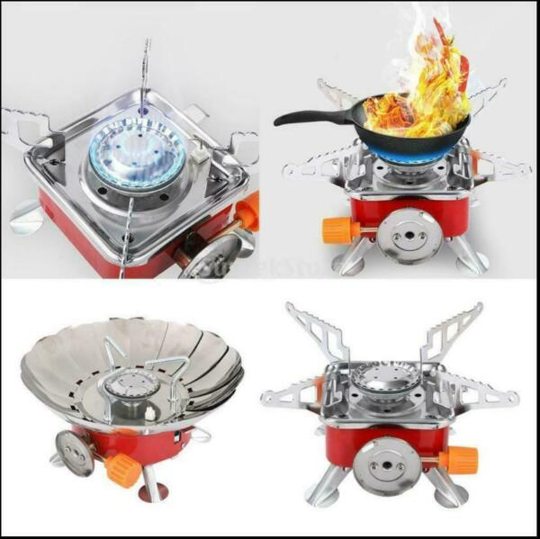 2800W Outdoor Picnic Gas Burner Portable Backpacking Camping Hiking Mini Stove