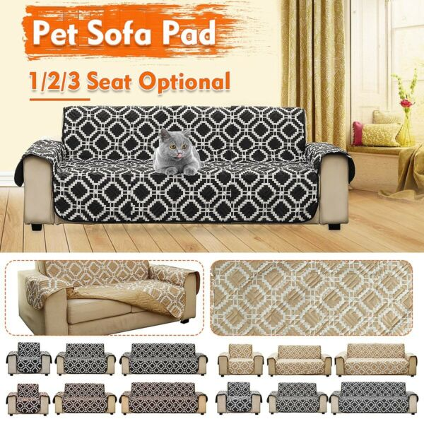 Anti slip Sofa Couch Cover Pet Dog Furniture Protector Mat W Strap Waterproof $41.69