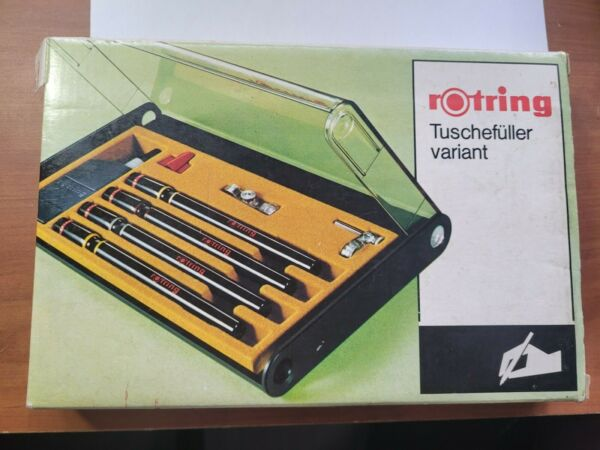 ROTRING Set of 4 drawing technical pens in case