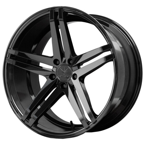 Staggered Verde Parallax Front:20x9Rear:20x10 5x114.3 20mm Black Wheels Rims $1042.96