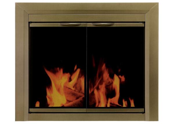 Pleasant Hearth CA 3202 Cahill Cabinet Style Fireplace Screen and Brass